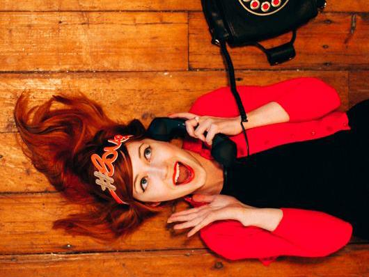 Hashtag Love Hairband Coral on Rebecca aclotheshorse