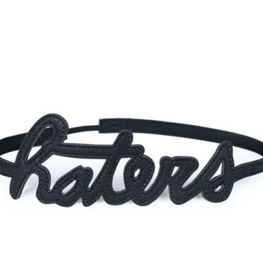 Haters Hairband Black Hero
