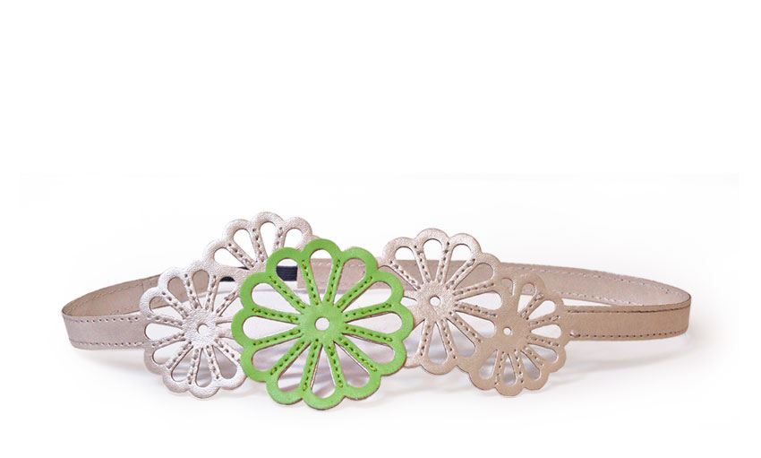 Imperial Flower Hairband Pearl and Green