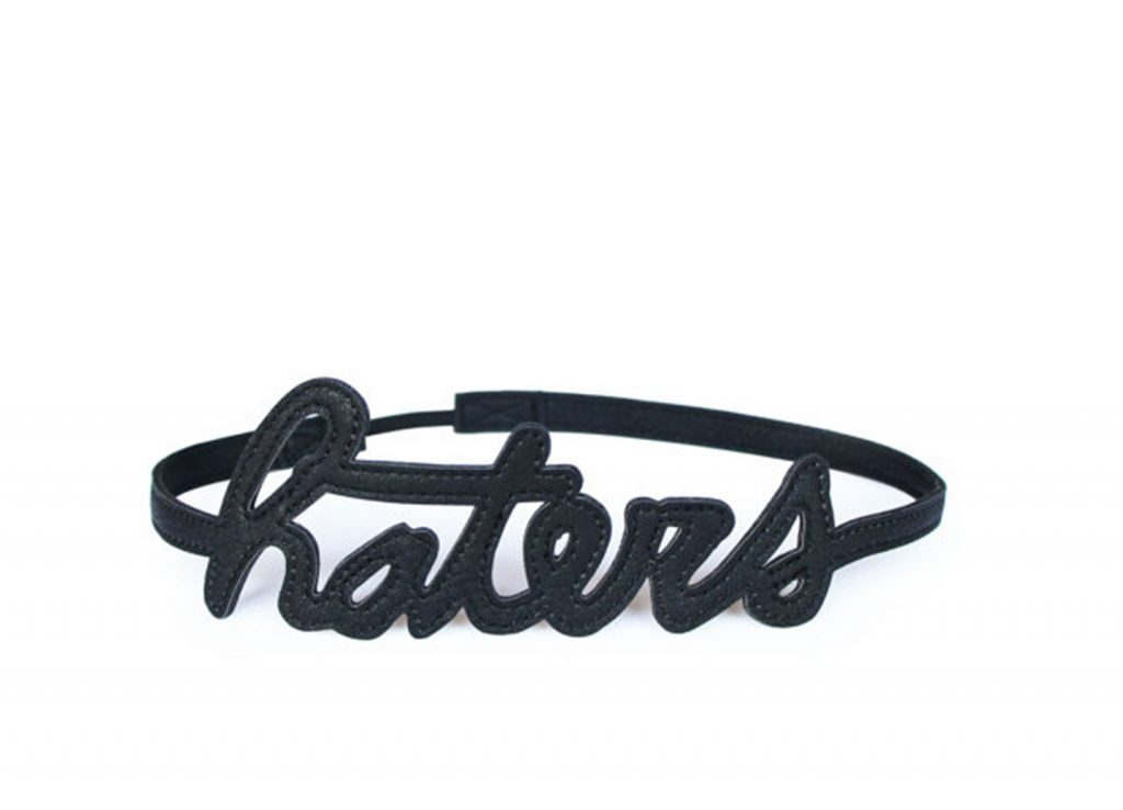 Haters Hairband Black