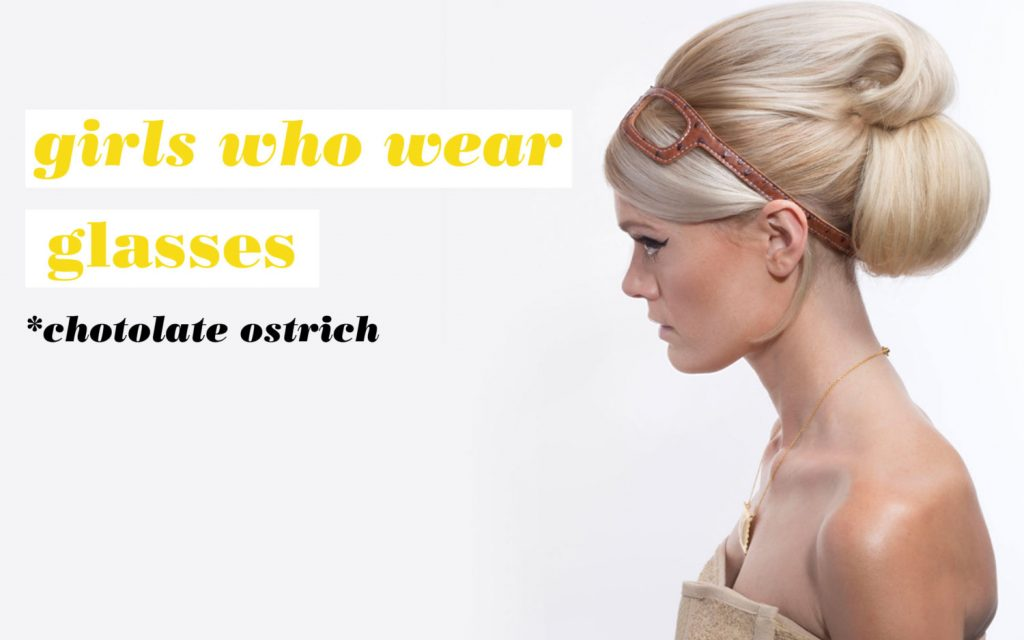 Girls Who Wear Glasses Hairbands Chocolate Ostrich Le Vero