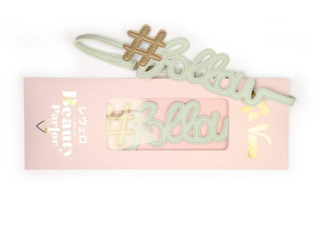 Hashtag Follow Hairband Baby Mint Card Package