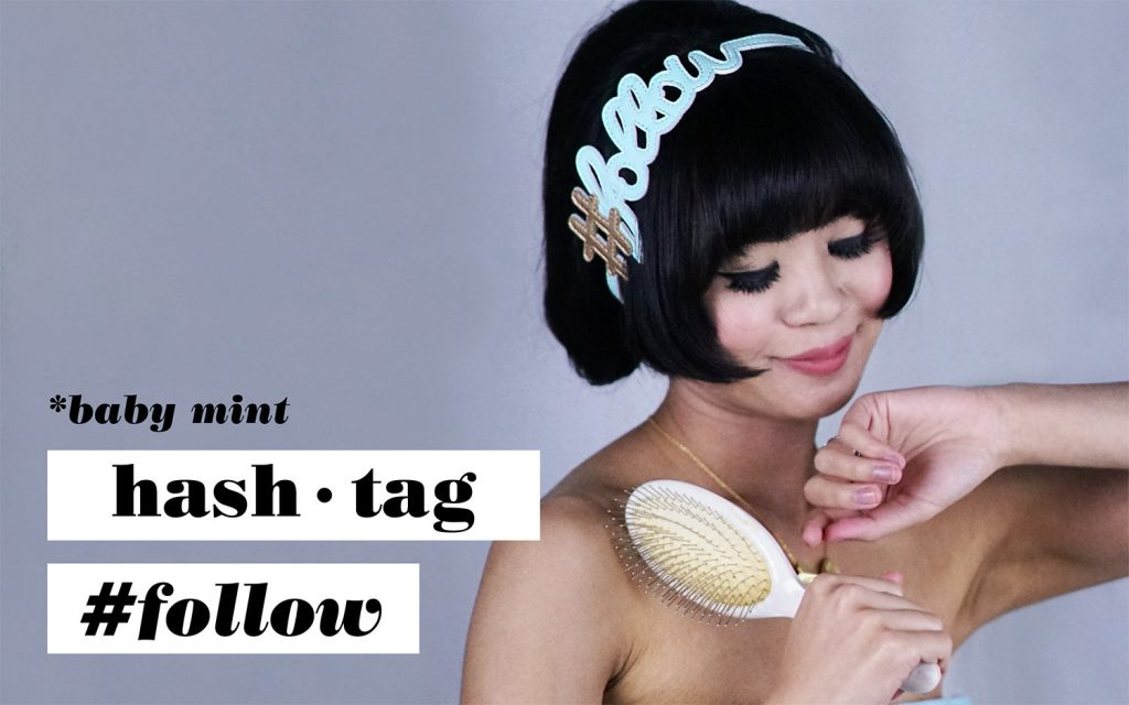 Hashtag Follow Hairband Baby Mint