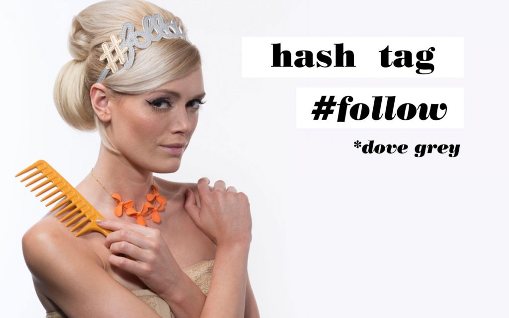 Hashtag Follow Hairband Dove Gray