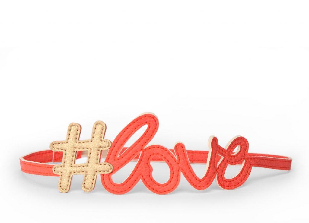 Hashtag Love Hairband Coral