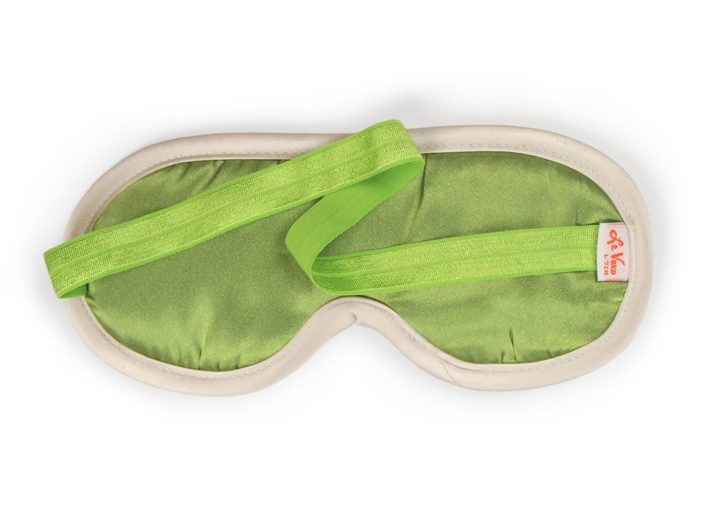 Private Patio Green Chenille Sleeping Mask Card Package Back
