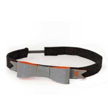 Simple Ribbon Hairband Gray, Black, and Orange